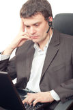 Businessman with headset. Stock Photography