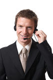 Businessman with headset Royalty Free Stock Images