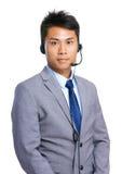 Businessman with headset Stock Photos
