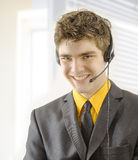 Businessman with headset Royalty Free Stock Photography