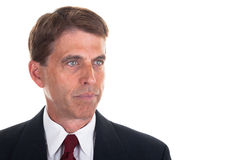 Businessman Headshot. Portrait of a middle aged business man, isolated on white Stock Image