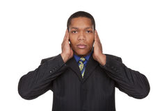Businessman - hear no evil Stock Photos