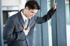 Businessman heart attack Stock Images