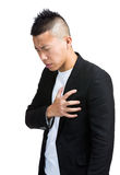 Businessman with heart attack Stock Image