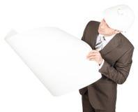 Businessman in helmet Royalty Free Stock Images