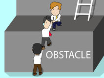 Businessman help colleagues Climb the stairs Royalty Free Stock Image