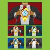 Businessman hero cover Stock Image