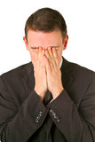 Businessman Hiding His Face In Shame Stock Photos