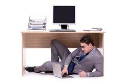 The businessman hiding in the ofice Stock Photos