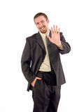 Businessman high five Royalty Free Stock Photos