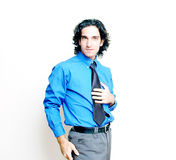 Businessman in high key royalty free stock photo