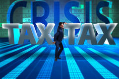 The businessman in high taxes concept Royalty Free Stock Photos