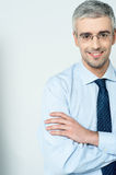 Businessman with his arms crossed Royalty Free Stock Photo