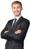 Businessman with his arms crossed Stock Images