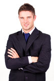 Businessman with his arms Folded Stock Images