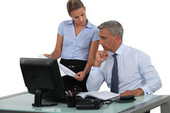 Businessman and his assistant Stock Images