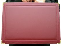 Businessman and his briefcase Royalty Free Stock Photo