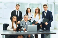 businessman and his business team in a modern office Royalty Free Stock Photo