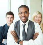 businessman with his colleagues smiling Royalty Free Stock Images