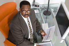 Businessman at His Desk Royalty Free Stock Photo