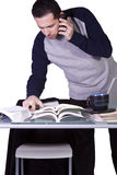 Businessman at His Desk Working Royalty Free Stock Photography