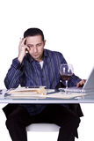 Businessman at His Desk Working Stock Images