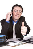Businessman at His Desk Working Stock Photo