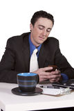 Businessman at His Desk Working Stock Image