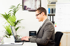 Businessman At His Desk, Working Royalty Free Stock Images