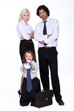 Businessman and his family Royalty Free Stock Images