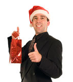 Businessman And His Gift Royalty Free Stock Images