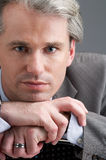 Businessman with his hands Royalty Free Stock Images
