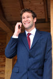 Businessman on his mobile phone Royalty Free Stock Image