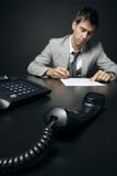 Businessman in his office Stock Image
