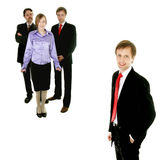 Businessman and his perfect te Royalty Free Stock Photography
