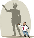 Businessman and his shadow. Vector illustration of a businessman and his shadow as a roman emperor vector illustration