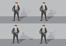 Businessman and his Shadow Vector Illustration Royalty Free Stock Photo