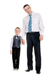 Businessman with his son Stock Image
