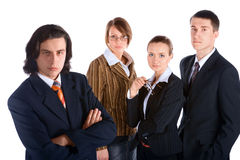Businessman and his team Royalty Free Stock Images