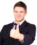 Businessman with his thumb up Royalty Free Stock Image