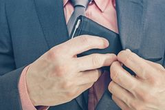 Businessman and His Wallet Royalty Free Stock Photos