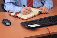 Businessman at his workplace. Royalty Free Stock Images