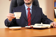 Businessman at his workplace Royalty Free Stock Images