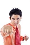 Businessman hit copyspace Stock Images