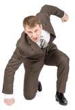 Businessman hitting floor Stock Photos