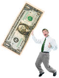Businessman hold big size us dollar Royalty Free Stock Photography