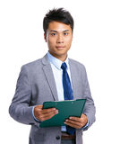 Businessman hold clipboard Royalty Free Stock Photography