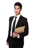 Businessman hold with clipboard Royalty Free Stock Photos