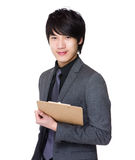 Businessman hold with clipboard Royalty Free Stock Photo
