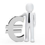 Businessman hold euro Stock Photos